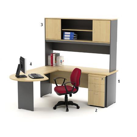 HighPoint Set Meja Kantor Kozy Mercury Series Workstation 2