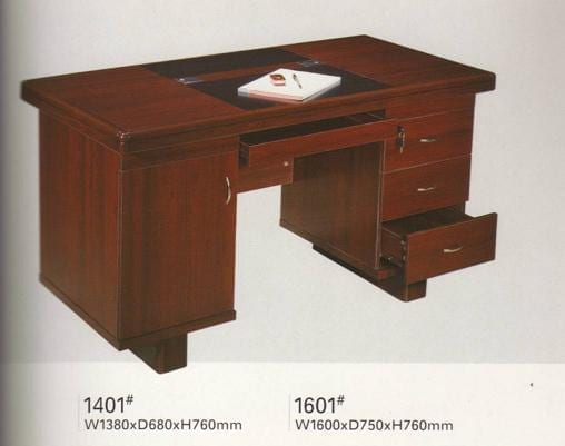 MegaStar Meja Kantor Berikut Laci type 1401 RSxxx