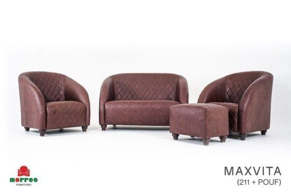 Sofa Maxvita 211+Puff Morres