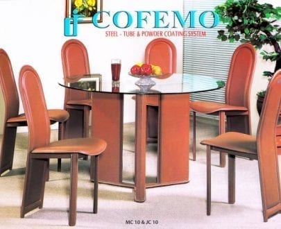 Cofemo Meja 6 Kursi makan type MC 10 JC 10