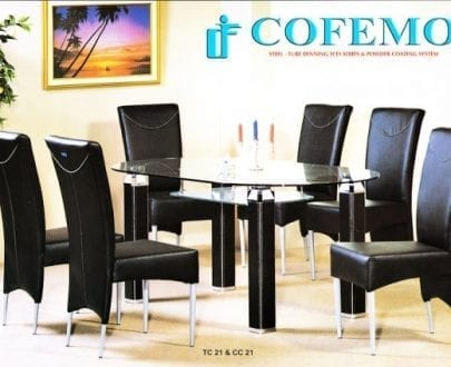 Cofemo Meja 6 Kursi makan type TC 21 CC 21
