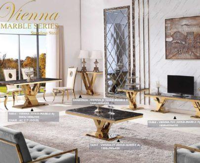 Meja Aveda Vienna CT Gold Marble
