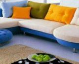 Sofa L Blossom + Puff Voda